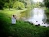 Girl and Duckies in Saratoga Springs 2013 by Heavenly Ryan